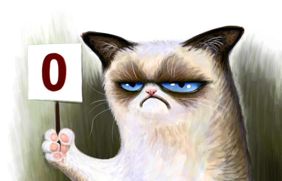 Grumpy cat - self critical